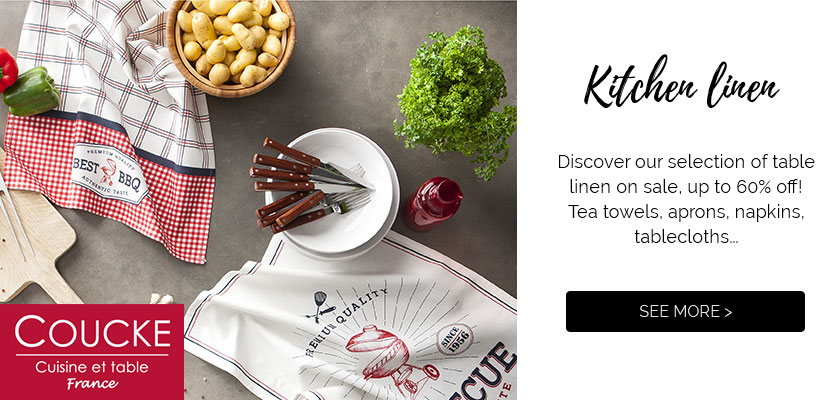 Sales: discover our selection of table linen, up to 60% off >