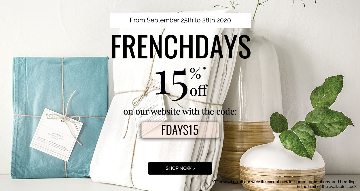French days get 15% off on our website! >