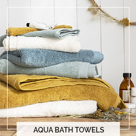 Towels set aqua