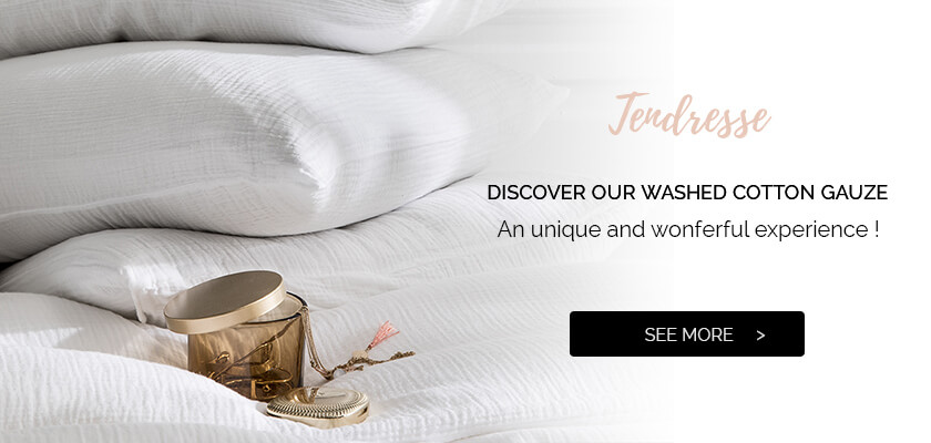 TENDRESSE: High quality Bed linen - washed cotton gauze