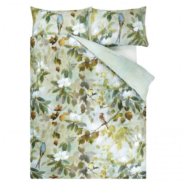 Housse de couette MAPLE TREE CELADON en percale de coton - DESIGNERS GUILD