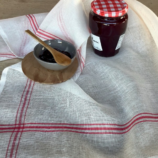 Torchon Étamine à confiture rouge Made in France - COUCKE