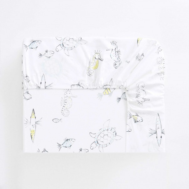 Drap Housse WHALE OF A TIME en coton - DESIGNERS GUILD KIDS