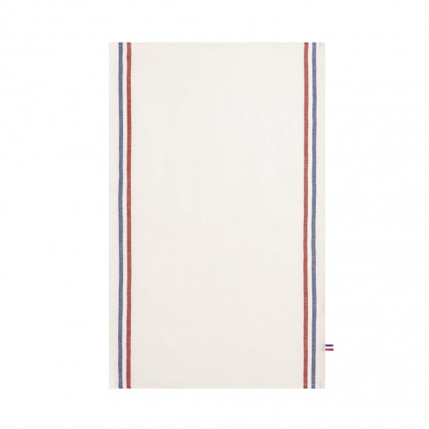 Torchon TRICOLORE Blanc Made in France - COUCKE