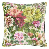 Velvet decorative pillowcase GRANDIFLORA ROSE - DESIGNERS GUILD