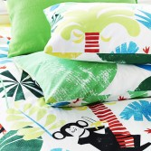 Pillowcase JUNGLE PLAYTIME LEAF