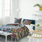 SASHI bed cover in cotton percale  - DESIGNERS GUILD