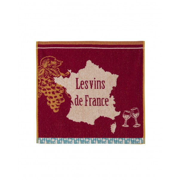 Jacquard terry square French Wine Coucke