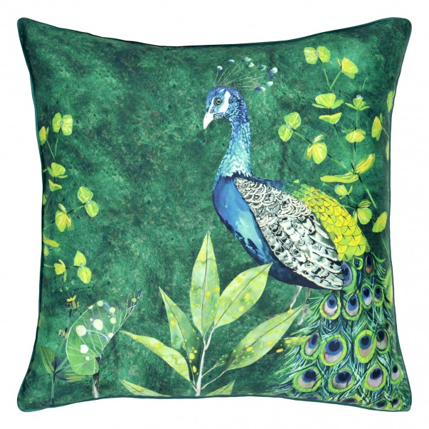 Decorative pillowcase ARJUNA LEAF Viridian
