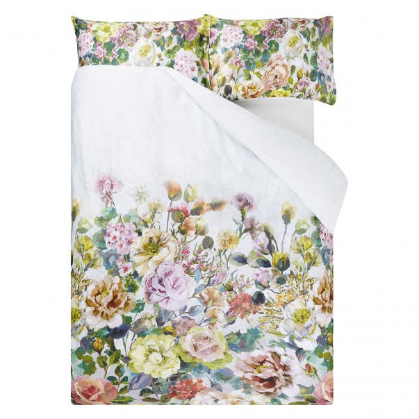 Sateen Cotton Duvet cover GRANDIFLORA ROSE - DESIGNERS GUILD