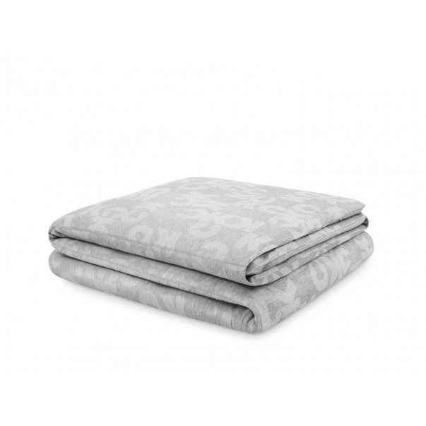 Duvet cover MONOGRAM LOGO heather grey  in Jacquard Jersey
