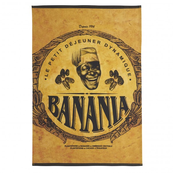 Tea towel BANANIA Cacao en   – Coucke