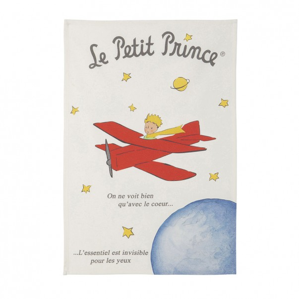 Tea towel THE LITTLE PRINCE AVION DE ST EX  - Coucke
