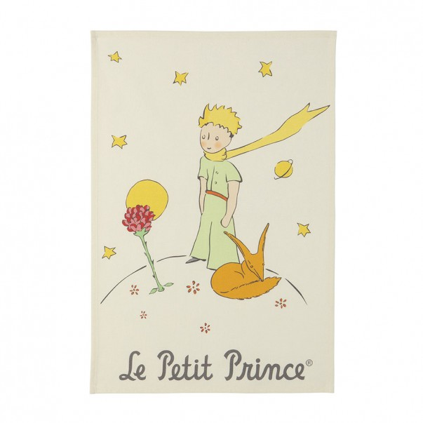 Tea towel THE LITTLE PRINCE La fleur et le renard  - Coucke