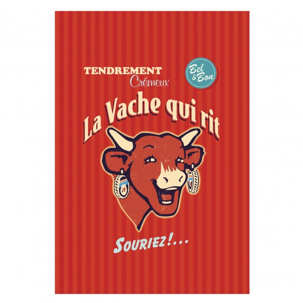 Tea towel THE LAUGHING COW Rétro Rouge - Coucke