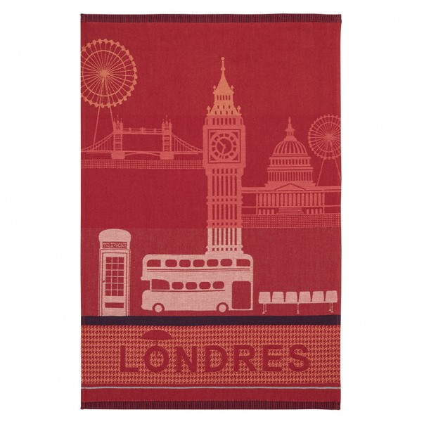 Tea towel LONDON CITY Red