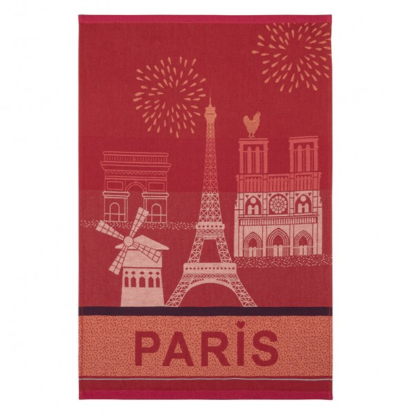 Tea towel PARIS CITY Red