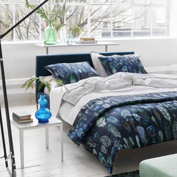ASTOR Midnight and aqua Bed set