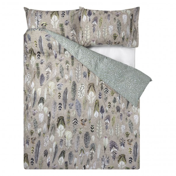 Percale cotton Duvet cover QUILL NATURAL - DESIGNERS GUILD