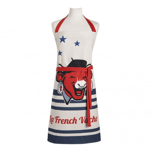 Apron THE LAUGHING COW French Vache in printed cotton – Coucke