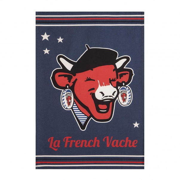 Tea towel THE LAUGHING COW French Vache in printed cotton – Coucke