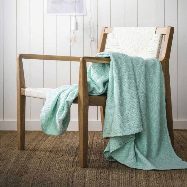 MALO cotton stone wash Throw 130x170cm in promotion
