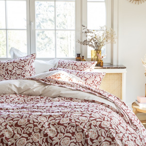 Boheme bed linen set in 80 thread count in cotton percale with OEKO-TEX® certified