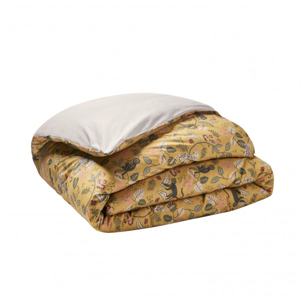 BESTIAIRE printed cotton percale duvet cover