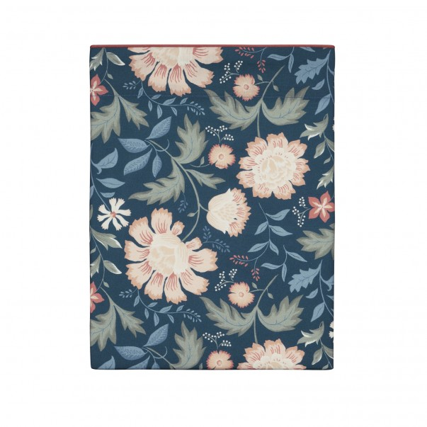FAIRY BLOSSOM flower-printed cotton percale bed sheet