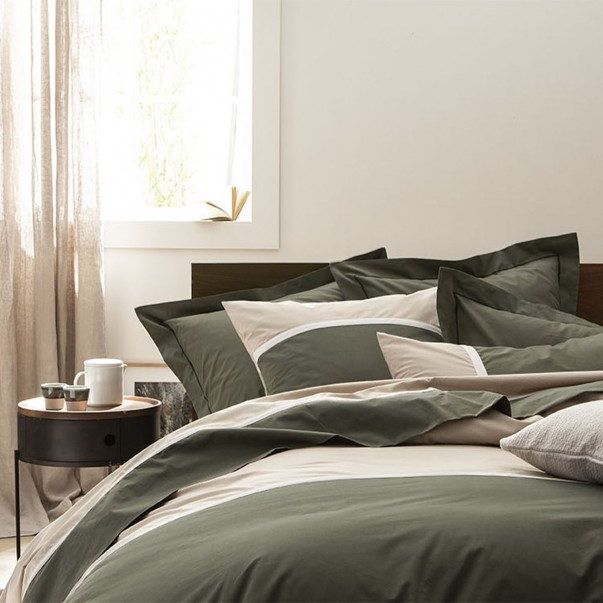 TOI & MOI Essential in cotton percale bed linen set, 100% French