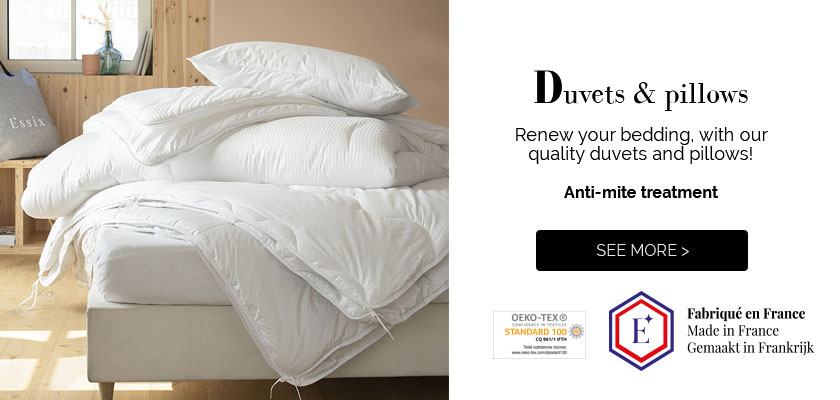 Renew your bedding with our high quality duvets and pillows made in France! Shop now >