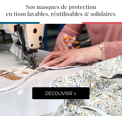 Nos masques de protection made in france >'
