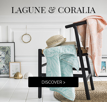 LAGUNE and CORALIA: Discover our sweet beach towels >