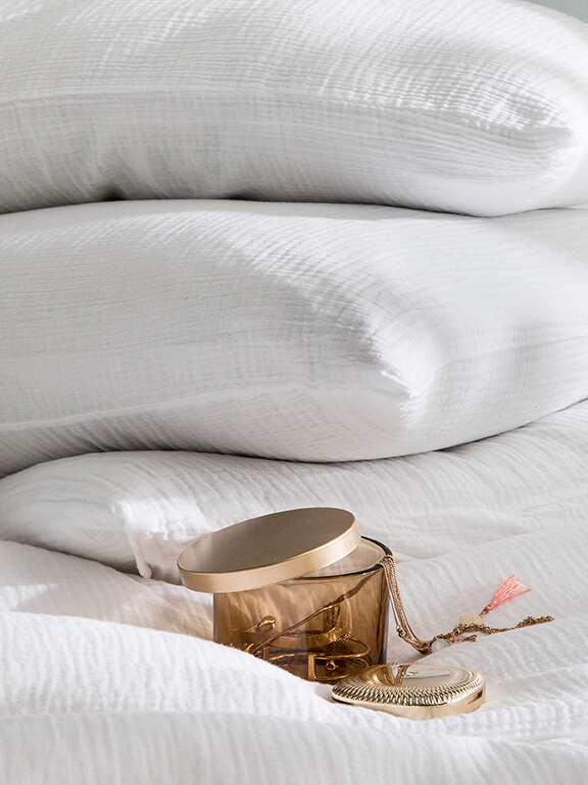 Parure de lit en gaze de coton TENDRESSE